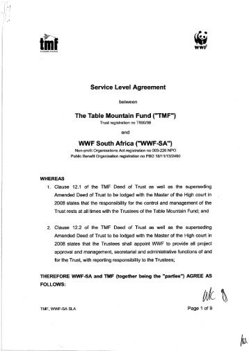 service-level-agreement-tmf-wwf-2008-south-africa - Environmental ...