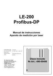 LE-200 Profibus-DP - TR Electronic