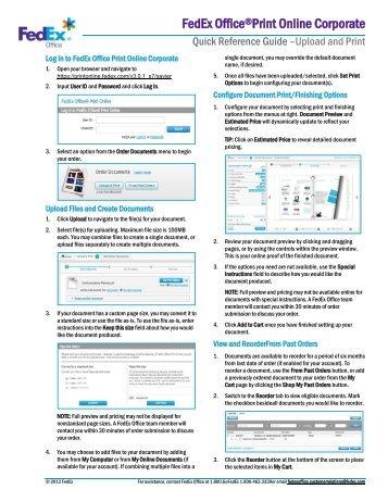 FedEx Office Print Online Corporate - Upload and ... - Xavier University