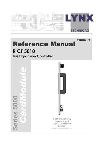 Reference Manual - LYNX Technik AG