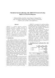 Simulation-based Verification with APRICOT Framework using High ...