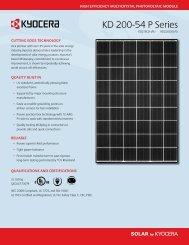 KD 200-54 P Series - KYOCERA Solar