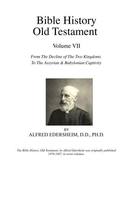 Bible History Old Testament Vol 7 pdf - Grace-eBooks com