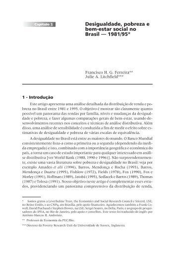 Desigualdade, pobreza e bem-estar social no ... - Empreende.org.br