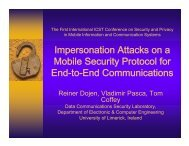 Impersonation Attacks on a Mobile Security Protocol for End-to-End ...