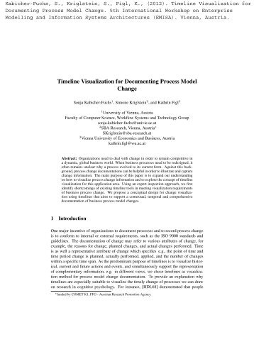 Timeline Visualization for Documenting Process Model Change