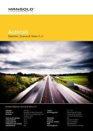 autocall daimler, scania & volvo 3 + - Mangold Fondkommission