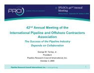42nd Annual Meeting of the International Pipeline and ... - Iploca