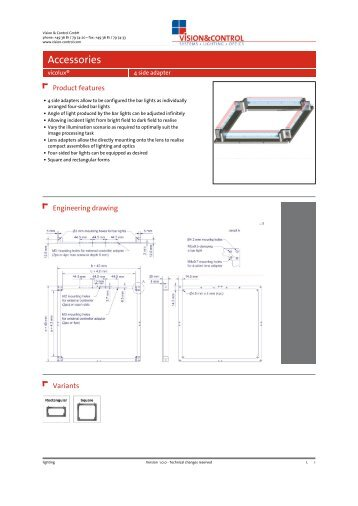 Datasheet - 4side mounting system - Vision & Control