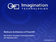 Multicore Architecture of PowerVR - Test and Verification Solutions