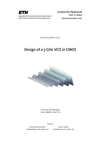 Design of a 5 GHz VCO in CMOS - Integrated Systems Laboratory