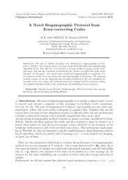 A Novel Steganographic Protocol from Error-correcting Codes