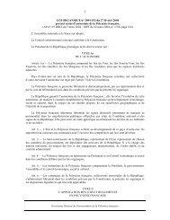 LOI ORGANIQUE n° 2004-192 du 27 février 2004 - Direction de l ...