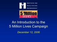 An Introduction to the 5 Million Lives Campaign - BayCare Health ...