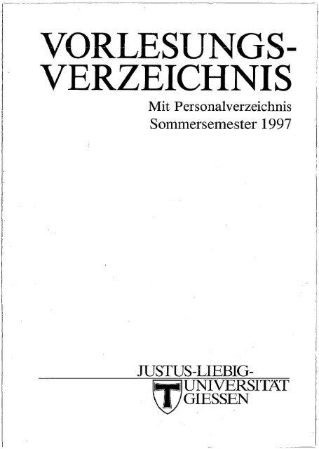 Verzeichnis Zur Giessener Elektronischen Bibliothek Justus