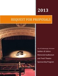 request for proposals - Chattanooga Area Chamber of Commerce