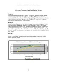 Nitrogen Rates on Hard Red Spring Wheat - Ontario Soil and Crop ...