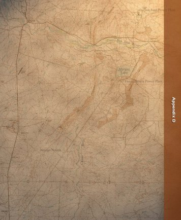 Draft EIS - Appendix D - Navajo Mine Extension Project