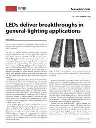 LEDs deliver breakthroughs in general-lighting applications
