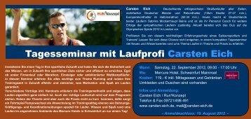 Tagesseminar mit Laufprofi Carsten Eich
