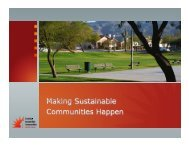 Making Sustainable Communities Happen - Sonoran Institute
