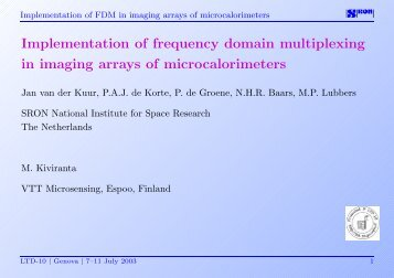 Implementation of frequency domain multiplexing in imaging arrays ...
