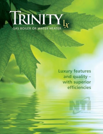 Trinity ti200 combi submittal r0 ny thermal inc luxury features and quality with superior ny thermal inc sciox Gallery