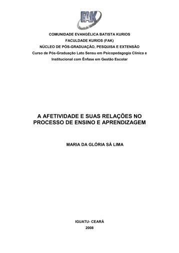34-Afetividade no Processo Ensino-Aprendizagem - Drb-assessoria ...