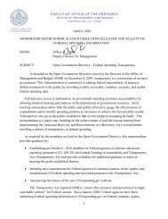 Open Government Directive – Federal Spending ... - The White House