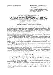 STR 1.12.07:2004 Statinių techninės priežiūros taisyklės ...