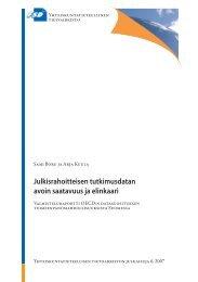 Julkisrahoitteisen tutkimusdatan avoin saatavuus ja elinkaari
