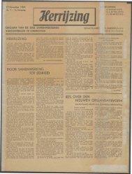 Herrijzing (november 1944) nr. 1 - Vakbeweging in de oorlog