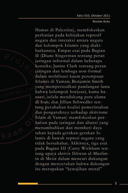 Islamic Activism - Democracy Project