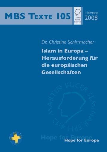 Islam in Europa - Martin Bucer Seminar