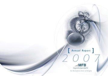 Annual Report 2007 - Magyar Fejlesztési Bank Zrt.