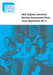GCE English Literature Revised Assessment Grids (from ... - WJEC