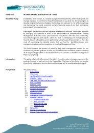 INTERIM SEA LEVEL RISE ADAPTATION - Policy - Eurobodalla ...