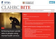 Joint BITE 3 - Suicide Prevention - CLAHRC-NDL - NIHR