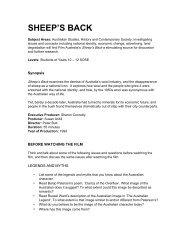 Sheep's Back Teachers Notes