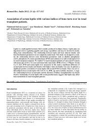 Association of serum leptin with various indices of bone turn over in ...