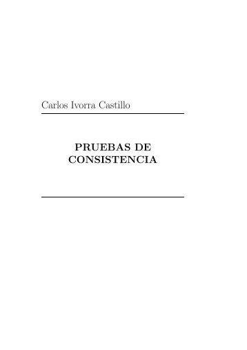Carlos Ivorra Castillo PRUEBAS DE CONSISTENCIA - DIM