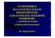 Dr. Megyeri Dóra - Magyar Ayurveda Gyógyászati Alapítvány