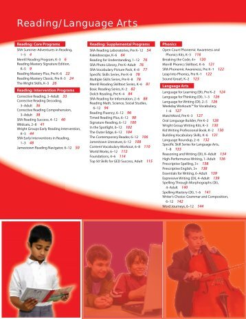 Reading/Language Arts - McGraw-Hill Books