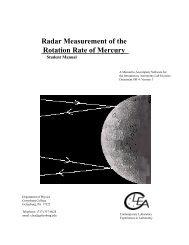 Radar Measurement of the Rotation Rate of Mercury - GSU Astronomy