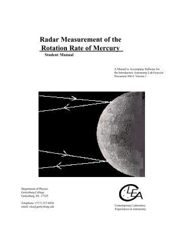 radar measurement of the rotation rate of mercury gsu astronomy rh yumpu com Manual Measurement Icon Petroleum Measurement Manual