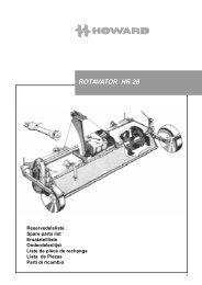 rotavator hr 28 - Kongskilde