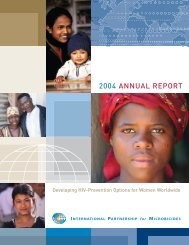 2004 IPM Annual Report - International Partnership For Microbicides