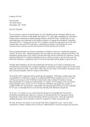 Association Letter to President Obama urging the Administration to ...