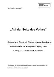 """""""Auf der Seite des Volkes"""" - Christoph Blocher"""