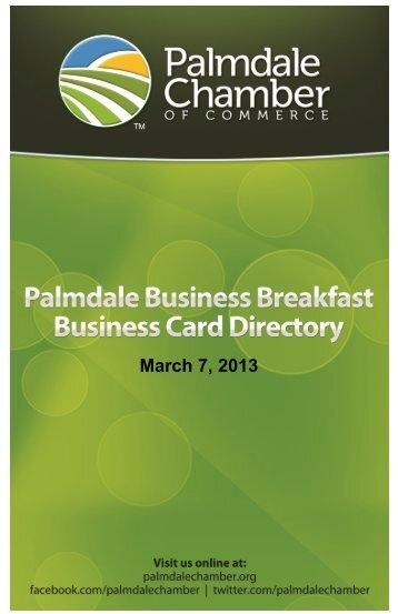 download the ad - Palmdale Chamber of Commerce